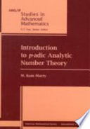 Introduction to $p$-adic Analytic Number Theory