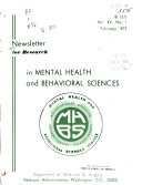 Newsletter for Research in Mental Health and Behavioral Sciences