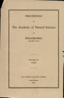 Proceedings of The Academy of Natural Sciences (Vol. XC, 1938)