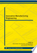 Innovative Manufacturing Engineering Book PDF