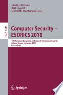 Computer Security - ESORICS 2010