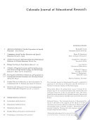 Colorado Journal of Educational Research