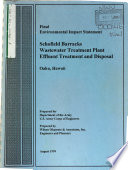 Schofield Barracks Wastewater Treatment Plant  WWTP  Effluent Treatment and Disposal Book