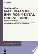 Materials in Environmental Engineering Book