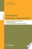 Advances in Enterprise Engineering IV