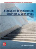ISE Statistical Techniques in Business and Economics Book