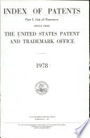 Index of Patents Issued from the United States Patent and Trademark Office Book