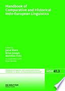 Handbook Of Comparative And Historical Indo European Linguistics