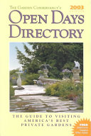The Garden Conservancy's Open Days Directory 2003 Edition