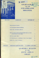 Quarterly Bulletin Of The South African Library