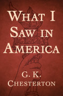 Pdf What I Saw in America Telecharger