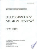 Bibliography of Medical Reviews Book