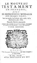Le Nouveau Testament en français