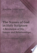 The Names of God in Holy Scripture
