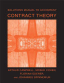 Solutions Manual to Accompany Contract Theory