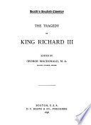 The Tragedy of King Richard III