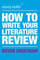 How to Write Your Literature Review