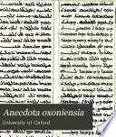 Anecdota oxoniensia Book