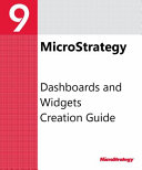 Dashboards and Widgets Creation Guide for MicroStrategy 9  3