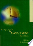 """Strategic Management"" by V.S.P. Rao, V.S.P. Rao; V. Hari Krishna, Hari V. Krishna"