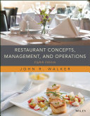 Pdf Restaurant Concepts, Management, and Operations Telecharger