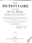 Grand dictionnaire universel du XIXe siècle0