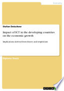Impact of ICT in the developing countries on the economic growth