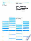 SAS System for Forecasting Time Series