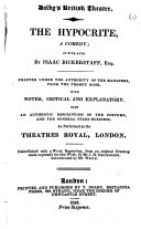The Hypocrite, a Comedy; in Five Acts. By Isaac Bickerstaff, Etc