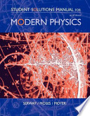Student Solutions Manual for Serway/Moses/Moyer S Modern Physics, 3rd