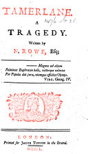 Tamerlane  A tragedy