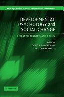 Developmental Psychology and Social Change