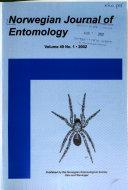 Norwegian Journal of Entomology