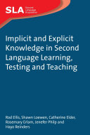 Implicit and Explicit Knowledge in Second Language Learning, Testing and Teaching Pdf/ePub eBook