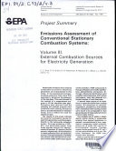 Emissions assessment of conventional stationary combustion systems Book