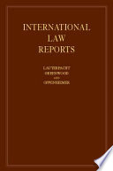 """International Law Reports"" by E. Lauterpacht, C. J. Greenwood, A. G. Oppenheimer"