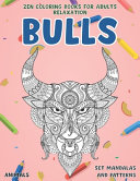 Zen Coloring Books for Adults Relaxation Set Mandalas and Patterns   Animals   Bulls