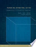 Fundamentals of Differential Equations: Pearson New International Edition PDF eBook