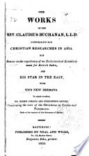 The Works of the Rev. Claudius Buchanan, L.L.D.