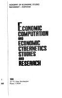 Economic Computation and Economic Cybernetics Studies and Research