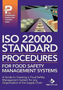ISO 22000 Standard Procedures for a Food Safety Management System