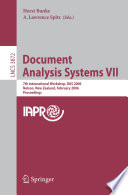 Document Analysis Systems VII Book