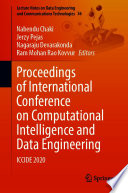 Proceedings of International Conference on Computational Intelligence and Data Engineering Book