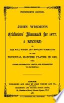 Wisden Cricketers' Almanack 1877
