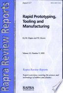 Rapid Prototyping  Tooling and Manufacturing