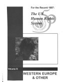 The UN human rights system   for the record 1997  6  Western Europe   other Book