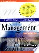 """""""Quantitative Techniques in Management,3e"""" by N. D. Vohra"""