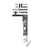 The History of the Lithuanian Language