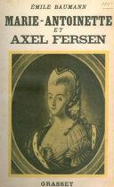 Marie-Antoinette et Axel Fersen ebook