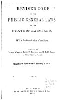 Revised Code Of The Public General Laws Of The State Of Maryland